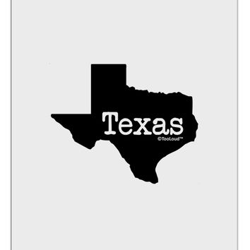 Texas - United States Shape Aluminum Dry Erase Board by TooLoud