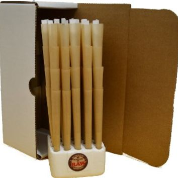 RAW® Authentic Pre-Rolled Cones With Filter (100 Pack) Pure Raw Hemp