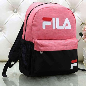 FILA Woman Men Fashion School Travel Backpack Daypack Rucksack