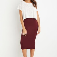 Classic Midi Pencil Skirt