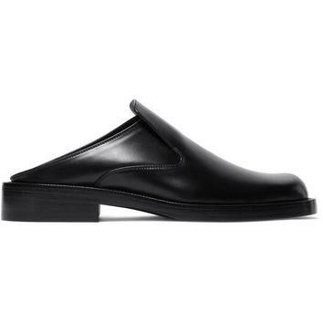 ONETOW balenciaga leather backless loafers 2