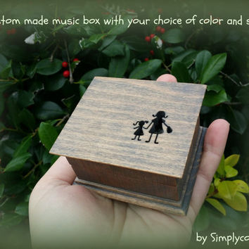 music box, wooden music box, mother of the bride music box, custom made music box, mom, gift for mom, mother and daughter, mothers day gift