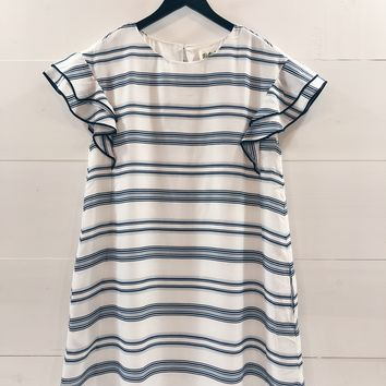 Kinley Short Sleeve Striped Dress