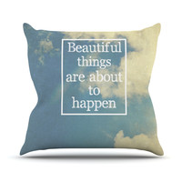 "Rachel Burbee ""Beautiful Things"" Sky Clouds Outdoor Throw Pillow"