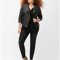 6th & Lane leather moto jacket | Lane Bryant