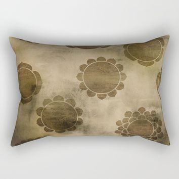 Chakras Burned Rectangular Pillow by Musing Tree Designs