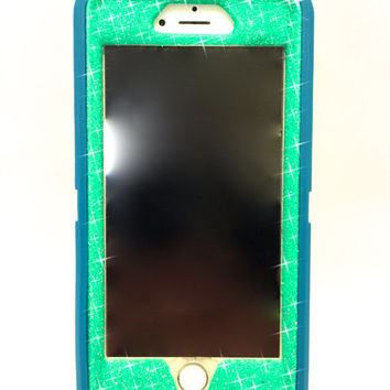 iPhone 6 (4.7 inch) OtterBox Defender Series Case Glitter Cute Sparkly Bling Defender Series Custom Case teal / wintermint