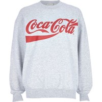 Grey Coca-Cola print oversized sweatshirt