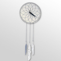 Dreamcatcher Clock - Mirrored Design