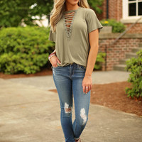 festival ready top - olive