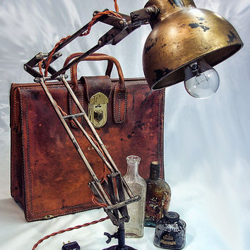 Architects Lamp   Steampunk   Industrial Lamp   Desk Lamp   Table Lamp    Edison Light