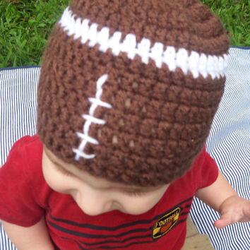 Made to Order: Handcrafted Crochet Football Hat for Baby,Toddler, or Child