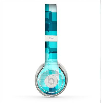 The Vibrant Blue HD Blocks Skin for the Beats by Dre Solo 2 Headphones