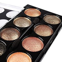 Banggood 8 Different Styles Eyeshadow Palette Nature Warm Smoky Eye Shadow Set Makeup Brush in