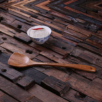 Personalized Wooden Soup Spoon
