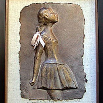 Degas Ballerina Paper Relief Side View Wall Hanging 14H - 4843X