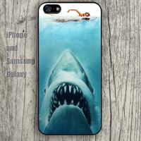 Shark swimming iphone 6 6 plus iPhone 5 5S 5C case Samsung S3,S4,S5 case Ipod Silicone plastic Phone cover Waterproof