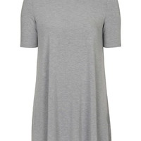 Half-Sleeve Flippy Tunic Dress - Topshop