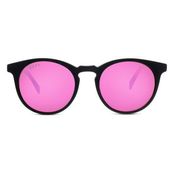 CHARLIE - MATTE BLACK + PINK MIRROR + POLARIZED
