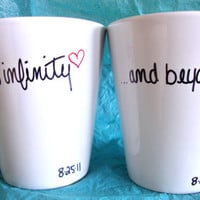 To Infinity ...and beyond - Set of 2 Mugs ((Hand Drawn Design))