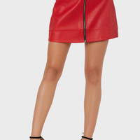 Wild Cat Vegan Leather Skirt