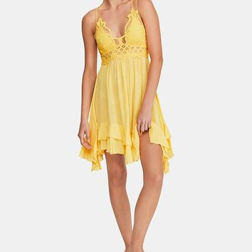Free People Adella Crochet-Top Ruffled-Hem Dress Women - Dresses - Macy's
