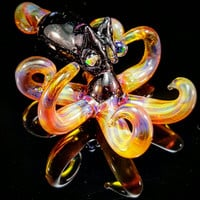 Wildfire Baby Kraken Pendant Number 8 w Opal Eyes and Opaltech body