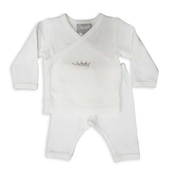 Coccoli Cranberry & Almond Take Me Home Crown PJs in Ivory