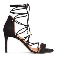 Strappy sandals with lacing