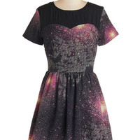 Sugarhill Boutique Cosmic Mid-length Short Sleeves A-line Every Which Milky Way Dress
