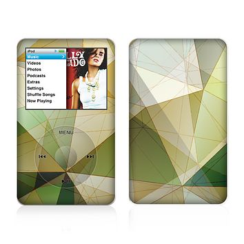 The Green Geometric Gradient Pattern Skin For The Apple iPod Classic