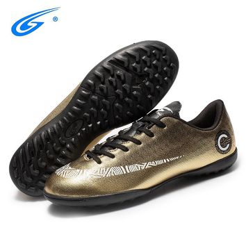 ZHENZU Brand Professional Men Women Indoor Soccer Shoes Trainer Football Boots TF Turf Soles Sneakers Adult Sport Soccer Cleats