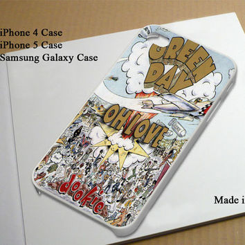 Green Day Dookie Best Seller Phone Case on Etsy for iPhone 4, iPhone 4s, iPhone 5 , Samsung Galaxy s3 and Samsung Galaxy s4