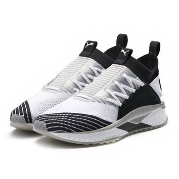 PUMA TSUGI JUN CUBISM New Popular Women Men Personality Shock Absorption Socks Shoes Sport Running Sneakers Black White I-CQ-YD
