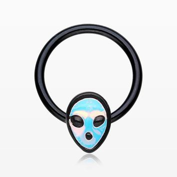 Blackline Iridescent Alien Revo Captive Bead Ring