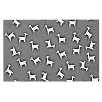 "Monika Strigel ""Llama Multi"" Gray Decorative Door Mat"