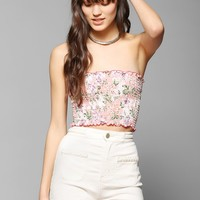 Urban Renewal Smocked Strapless Top - Urban Outfitters