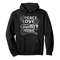 Country And Western Peace Love And Country Music T Shirt