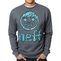 Neff Crystal Charcoal Crew Neck Sweatshirt