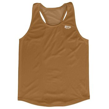 Brown Running Tank Top Racerback Track and Cross Country Singlet Jersey