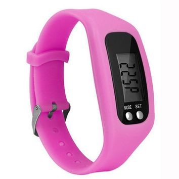 Digital Walking Distance Counter Run Step Watch For Boys And Girls In 10 Colors