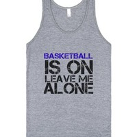 Basketball-Unisex Athletic Grey Tank