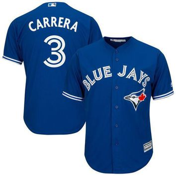 Men's Toronto Blue Jays Ezequiel Carrera Majestic Royal Cool Base Alternate Player Jersey