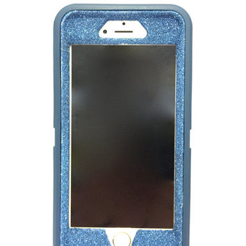 iPhone 6 (4.7 inch) OtterBox Defender Series Case Glitter Cute Sparkly Bling Defender Series Custom Case Deep water blue / blue