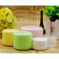 5PCS Refillable Bottles Travel Face Cream Lotion Cosmetic Container Plastic Empty Makeup Jar Pot 5 Colors 20/50/100g