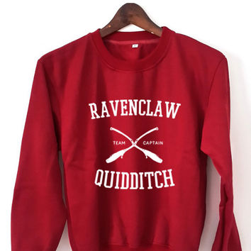 Harry Potter Sweatshirt Ravenclaw Quidditch Logo Black White Gray Maroon Unisex Sweaters Tee S,M,L,XL #3