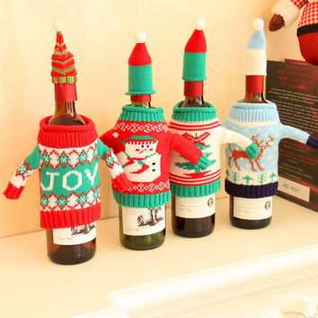 Plush Wine Bottle Covers