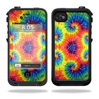 Mightyskins Protective Vinyl Skin Decal Cover for LifeProof iPhone 4 / 4S Case wrap sticker skins Tie Dye 2