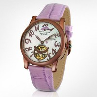 Forzieri Bermuda - Women's Lilac Automatic Mechanical Watch | FORZIERI