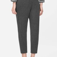 Tapered jersey trousers